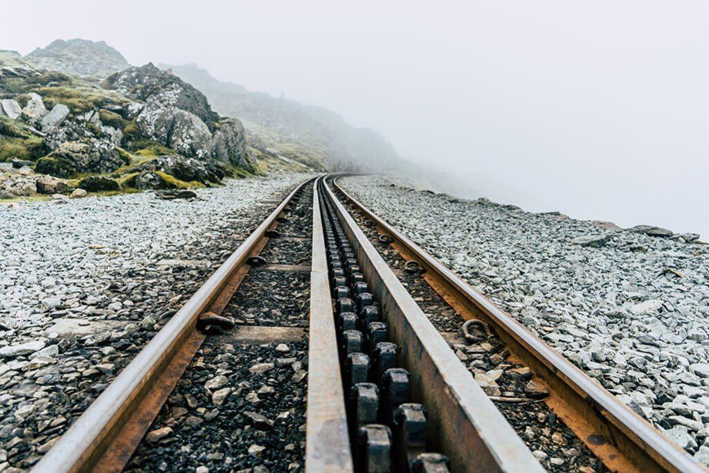 Gleise der Snowdon Mountain Railway