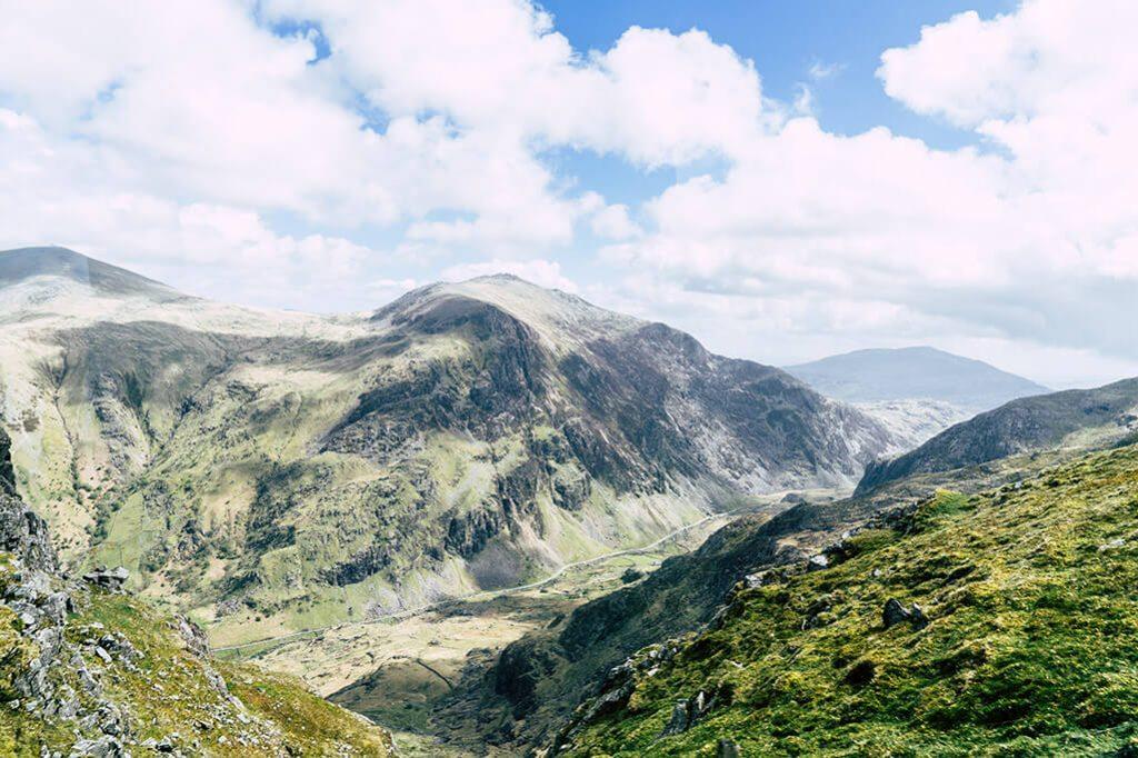 Wanderweg in Wales auf den Snowdon im Snowdonia Nationalpark