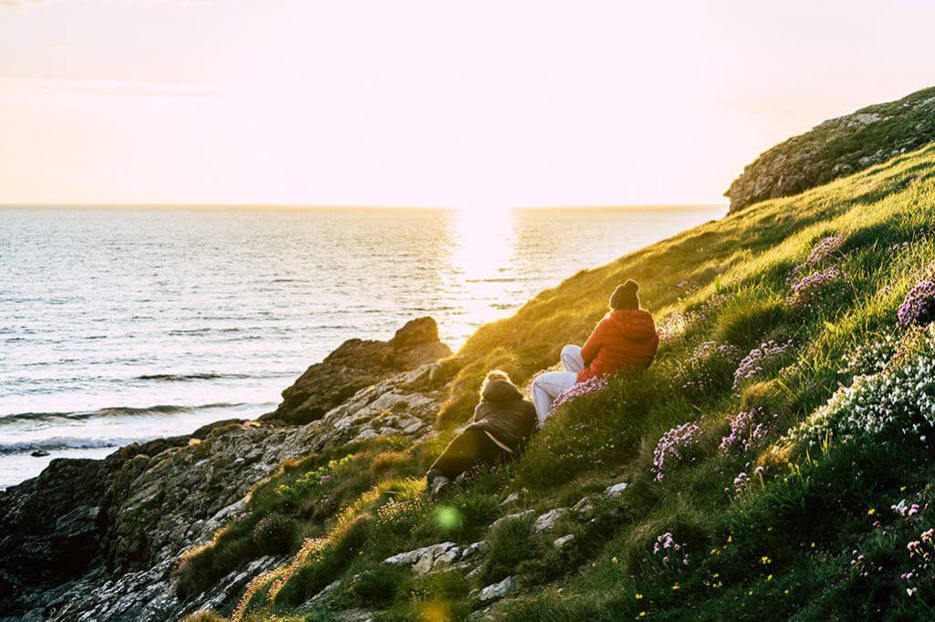 Die Insel Anglesey und das Haus am Meer.