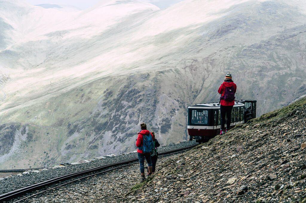 Zahnradbahn auf dem Mount Snowdon