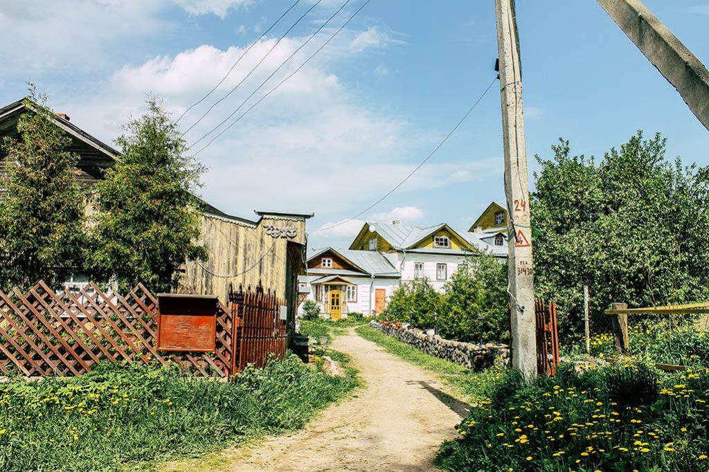 Blick in ein russisches Dorf