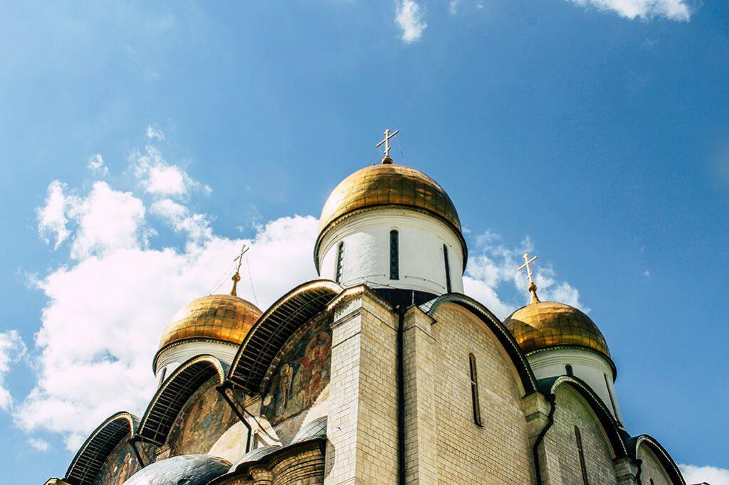 Kirche innerhalb vom Kreml in Moskau