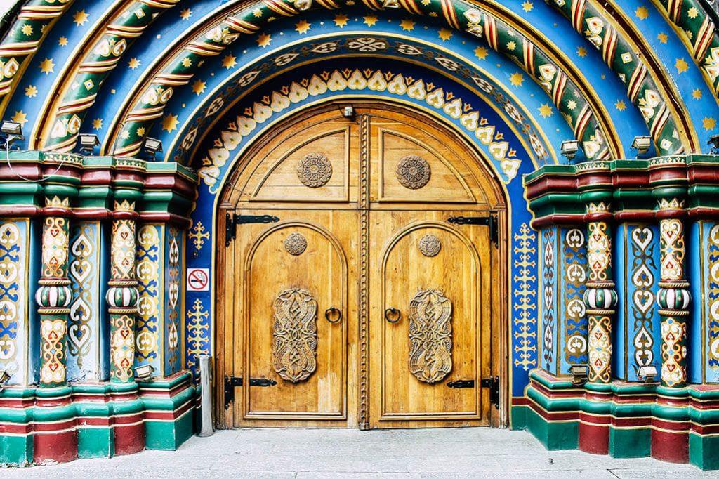 typisch russischer Eingang in Moskau