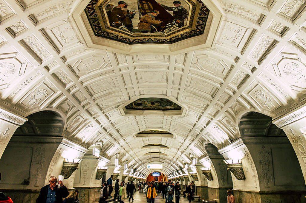 Station Belorusskaja der Moskauer Metro