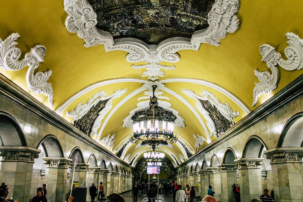 Station Komsomolskaya der Moskauer Metro