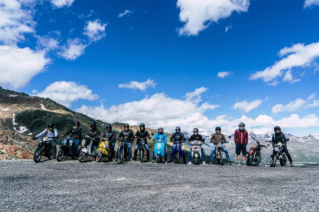 Mopeds am Tiefenbachgletscher