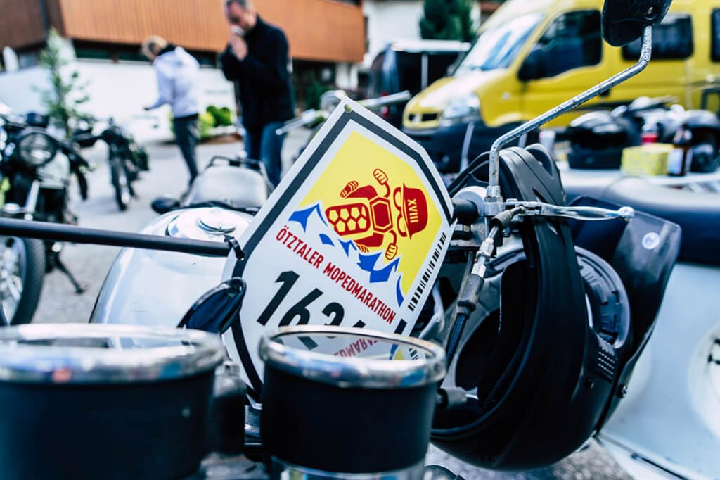 PBR 50 als Moped fuer den Oetztaler Mopedmarathon