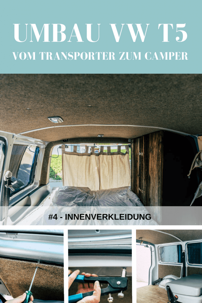 Teppich als Innenverkleidung im VW T5 Camper