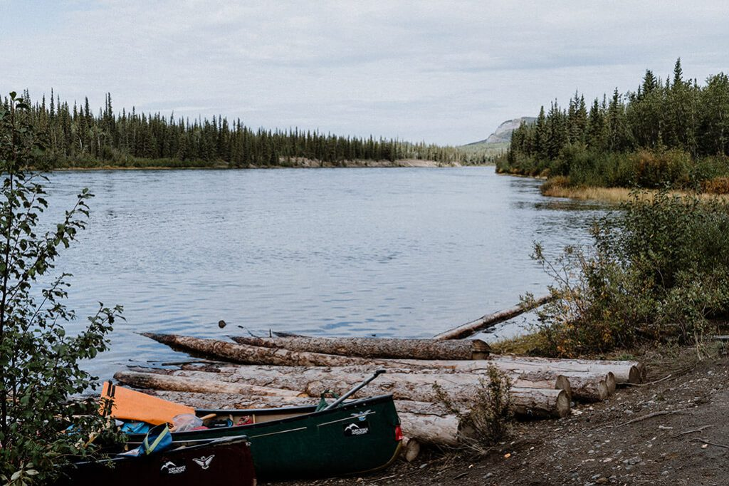 Pause am Yukon River
