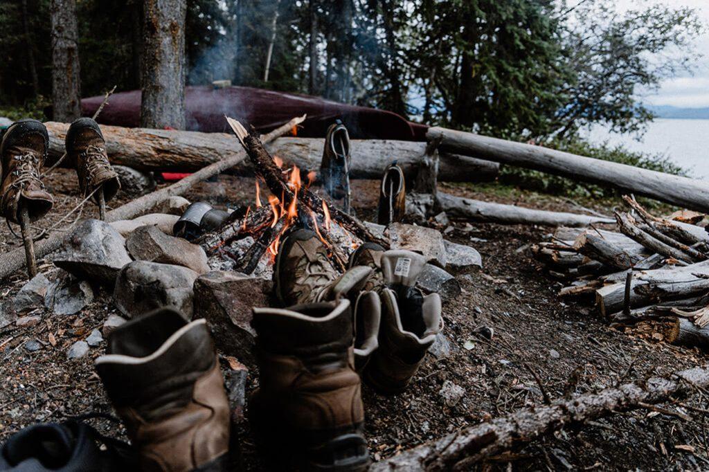 Kanutour Yukon Lagerfeuer