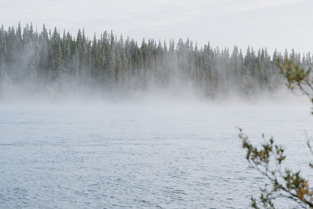 Morgennebel am Yukon River