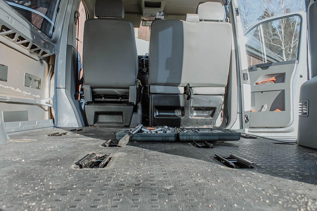 VW T5 Camper Ausbau Boden Bestand