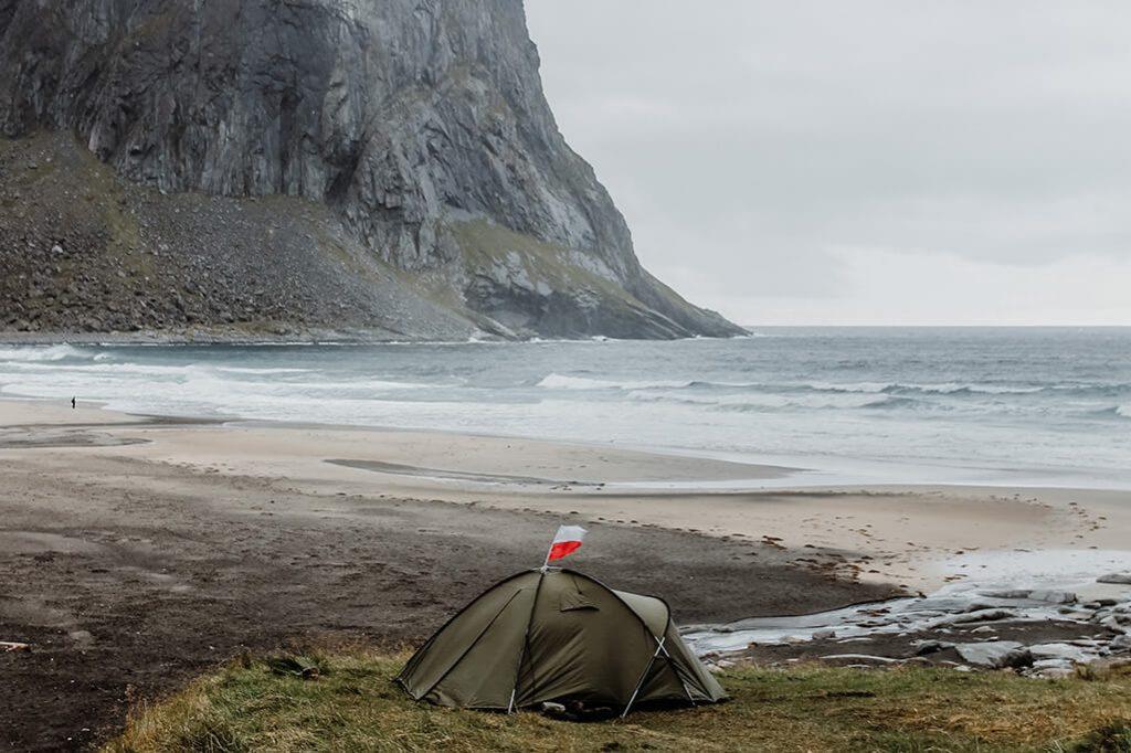 Die Kvalvika Bucht auf den Lofoten