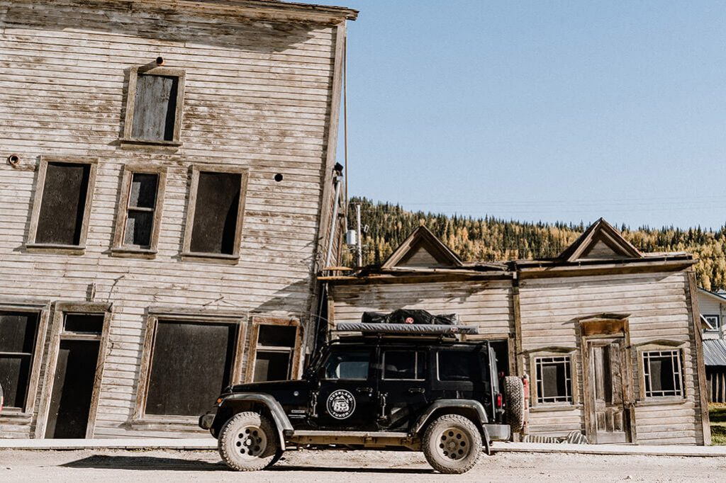 Jeep Wrangler in Dawson City