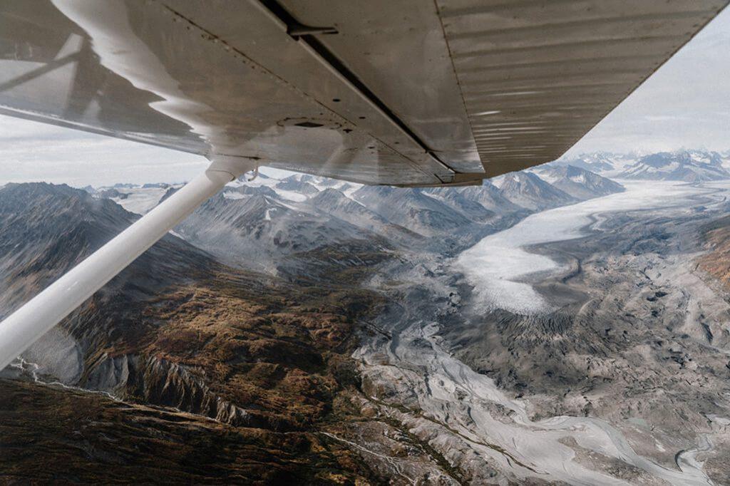 Flug ueber der Kluane Nationalpark