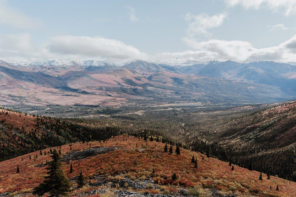 Blick nach Osten im Tombstone Territorial Park