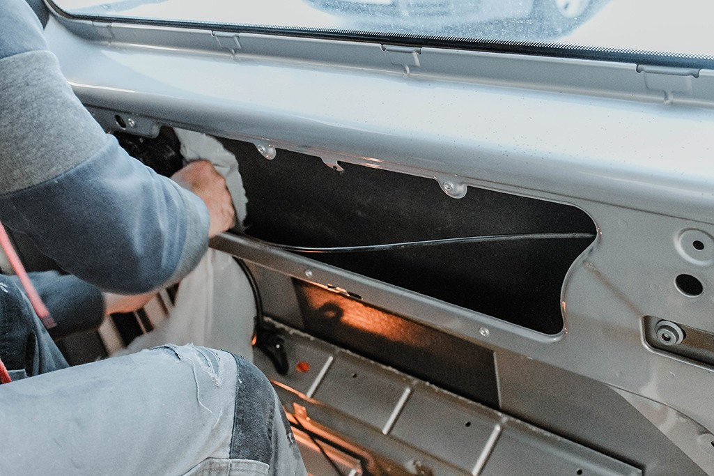 Wand dämmen VW T5 Camper