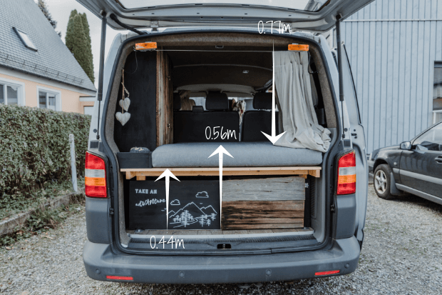 campervan selbstausbau das bett im vw t5 transporter. Black Bedroom Furniture Sets. Home Design Ideas
