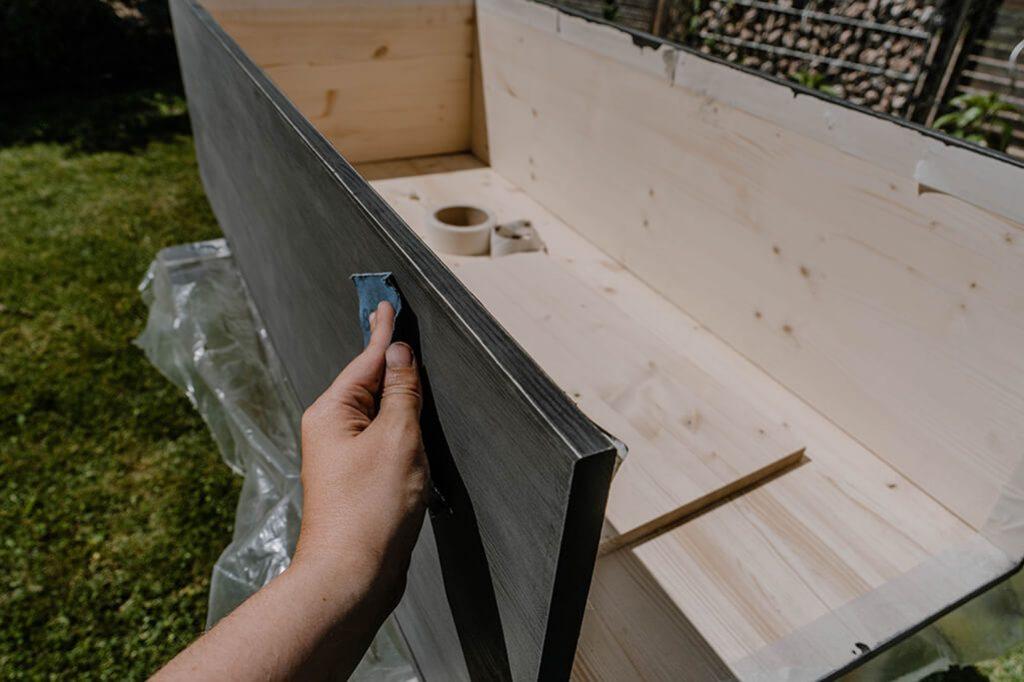 Holz Schublade schleifen