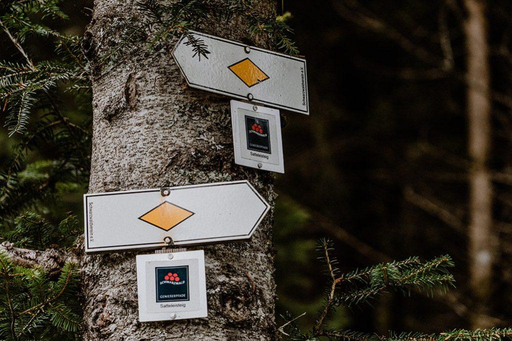 Baiersbronn Wegweiser Genießerpfade