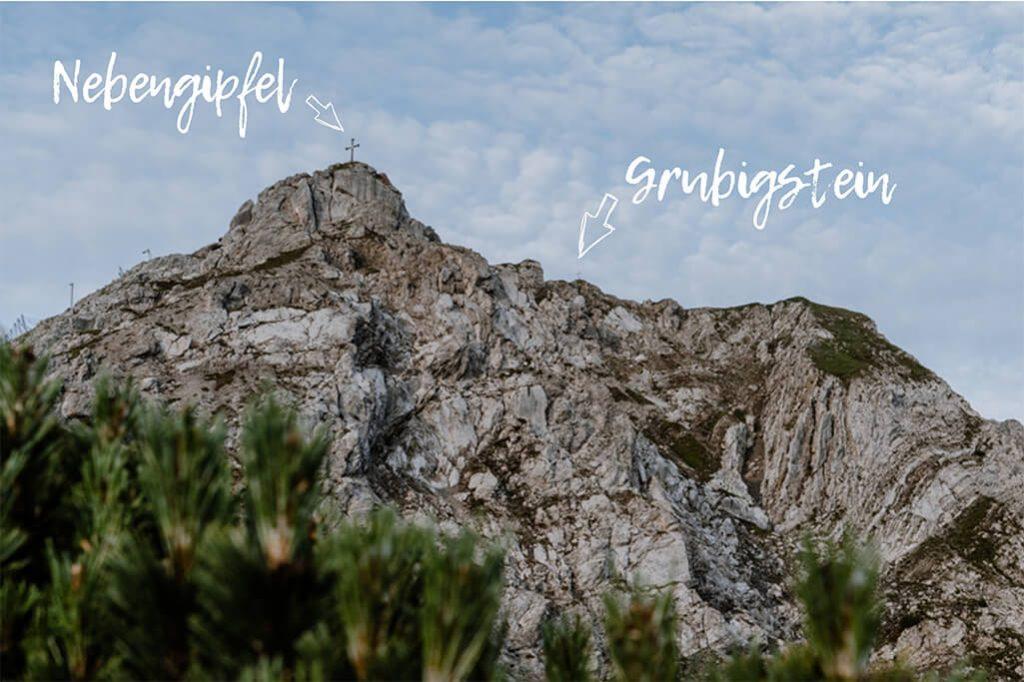 Grubigstein Gipfel mit Nebengipfel