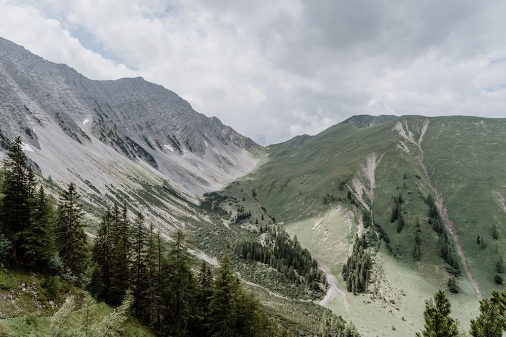 Blick weiter oben auf Talkessel Gartner Tal