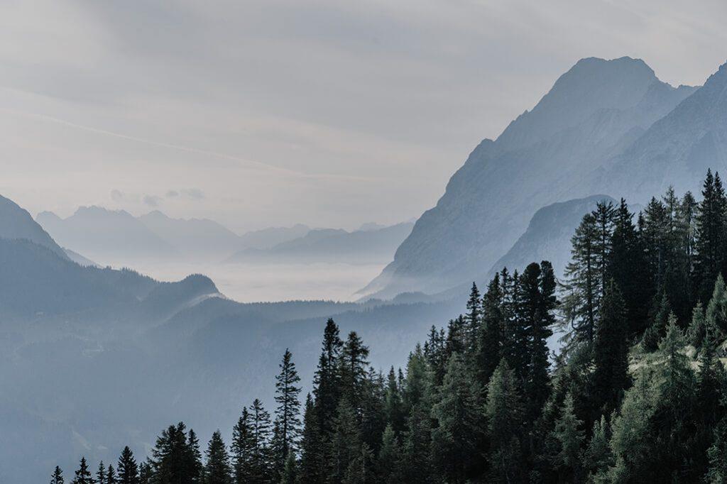 Wettersteingebirge im Morgennebel