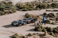 VW T4 Busse an der Küste von Spanien