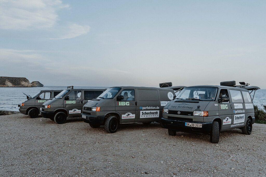 VW T4 als Rallyeauto für Dust and Diesel