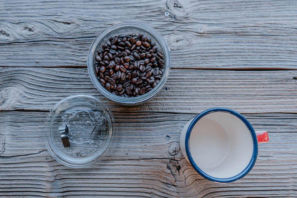Kaffeebohnen im Wohnmobil