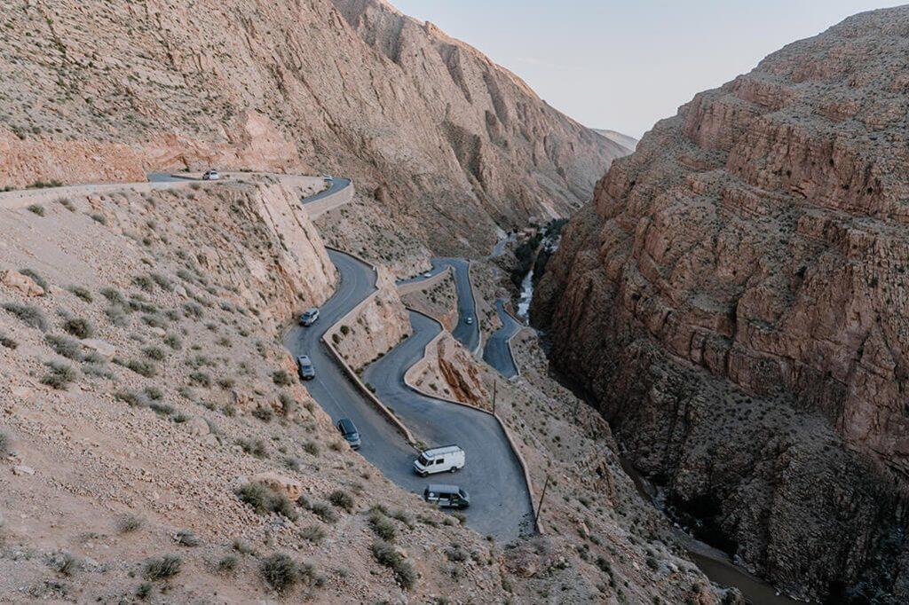 Straße in Dadesschlucht