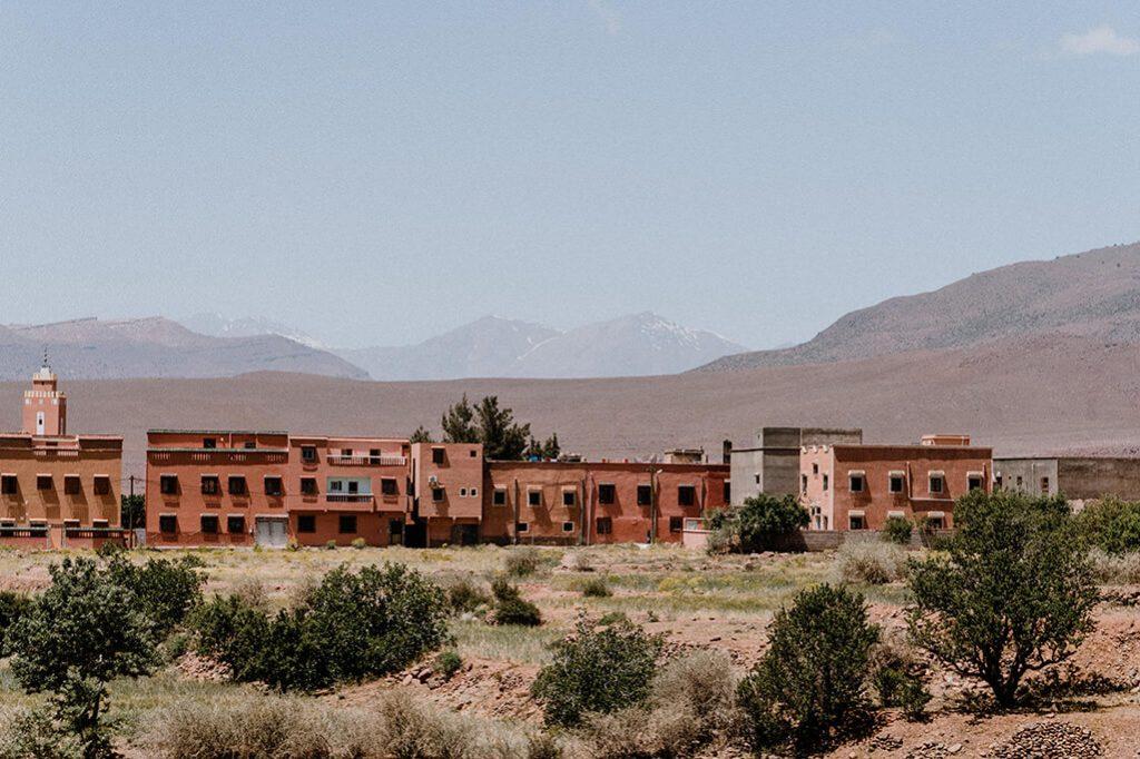 Marokko Hoher Atlas Gebäude aus Lehm