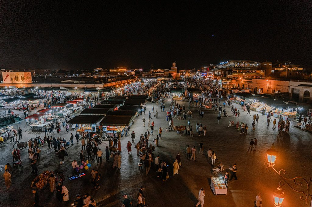 Marrakech Djemaa el Fna bei Nacht