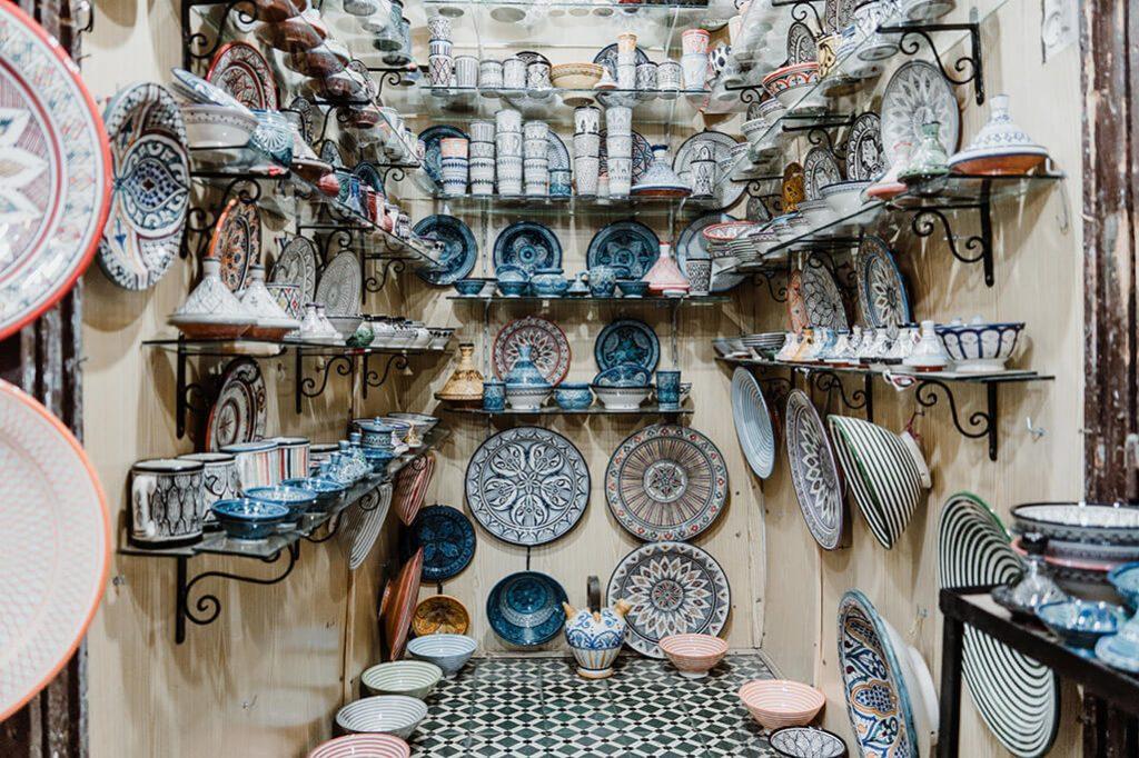 Marrakech Souk Keramikstand