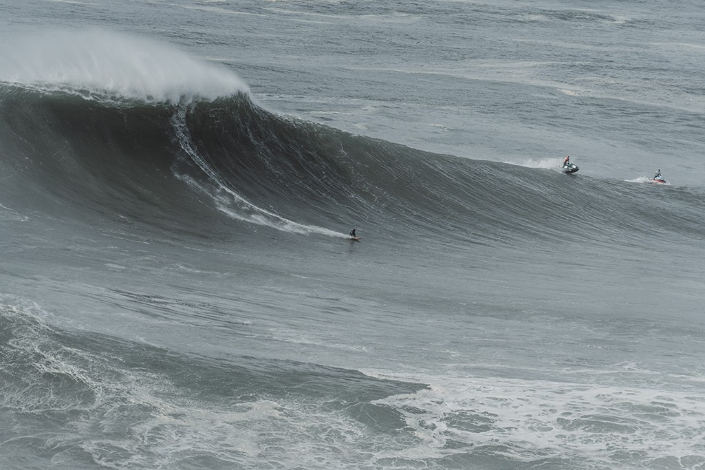 Big Wave Surfer in Portugal