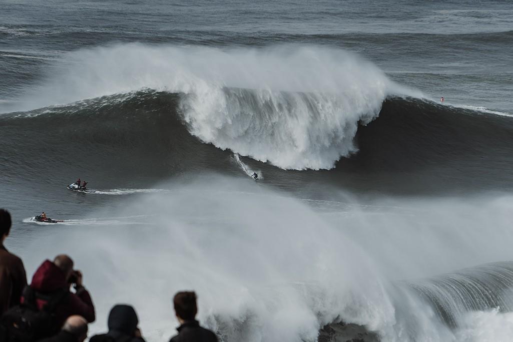 Nazare Big Wave Tow Surfing Challenge