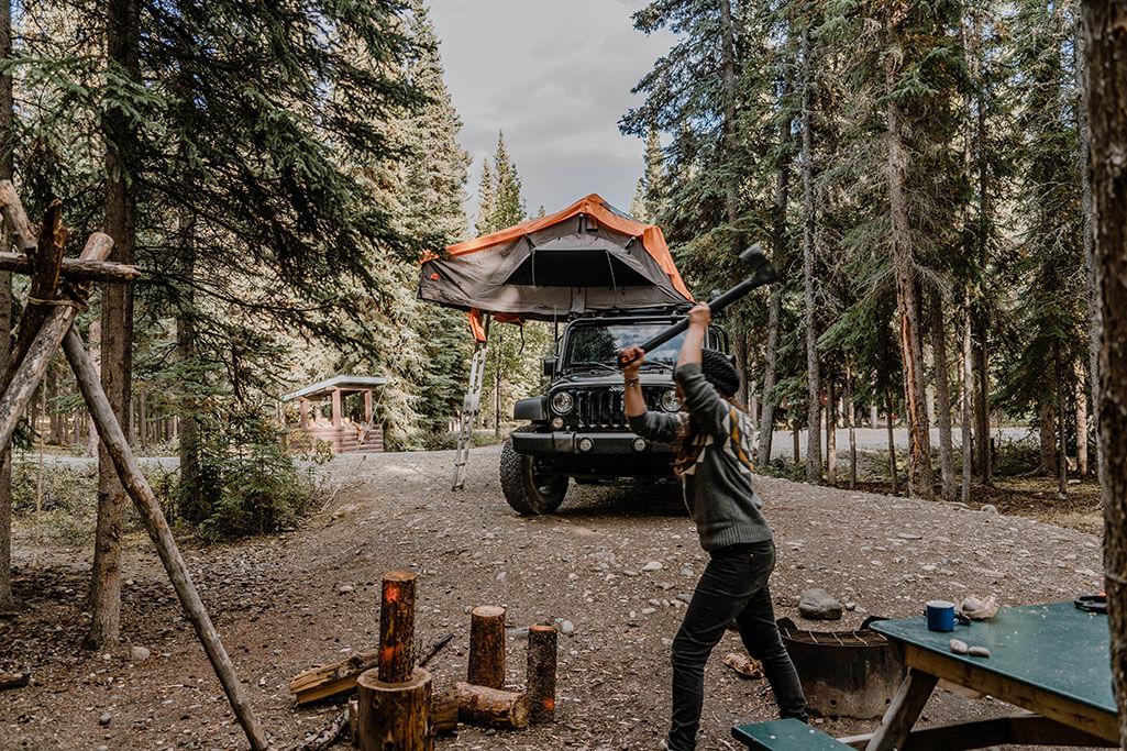 nachhaltige Kleidung beim Camping