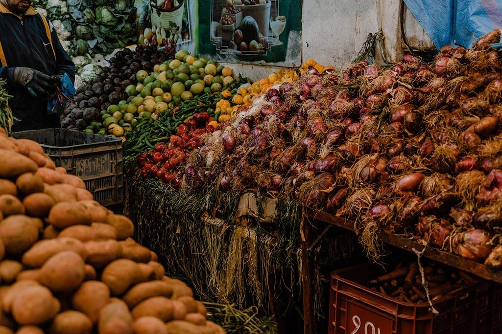 Gemüse im Markt in Dakhla