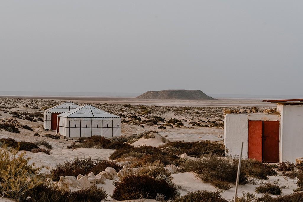 Camping in der Westsahara Beduinenzelte