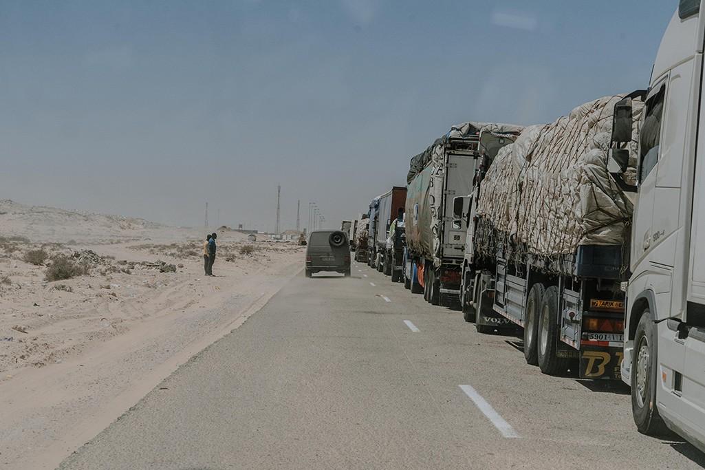 Grenzübergang Marokko Mauretanien