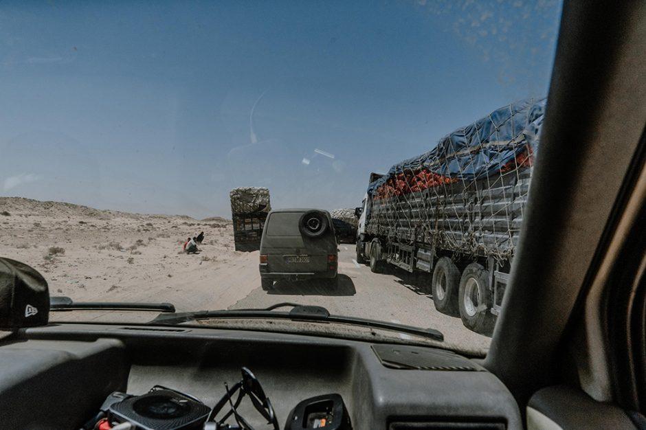 Grenzübergang Westsahara Mauretanien