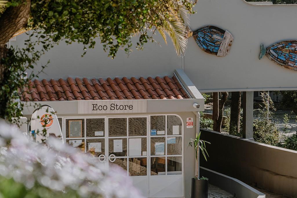 Eco Store auf dem Campingplatz in Salema
