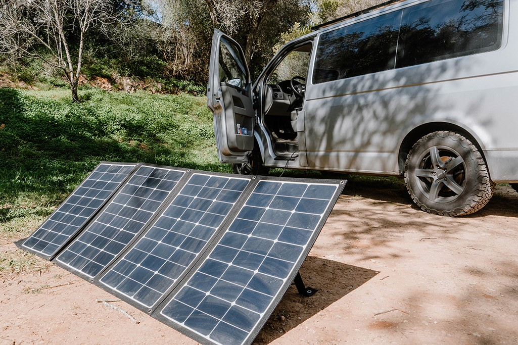 Camping faltbares Solarpanel