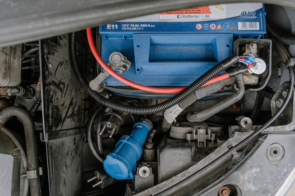 Batterieraum VW T5