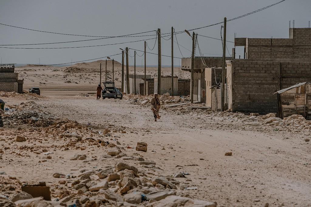 Straße im Vorort von Nouadhibou