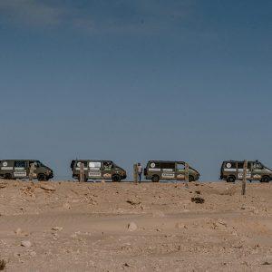 VW T4 Bus auf einem Roadtrip durch Mauretanien