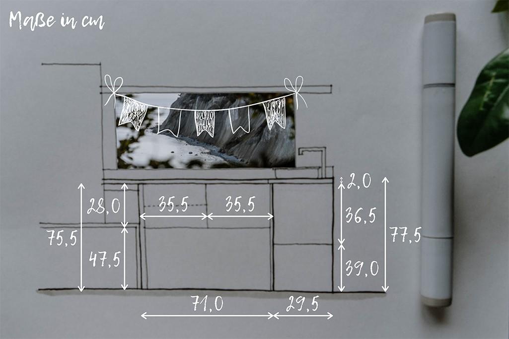 Maße einer Selbstbau-Küche für VW T5