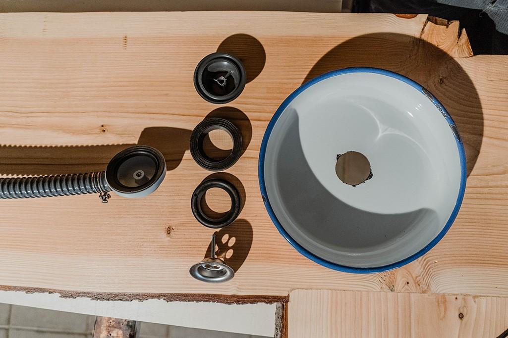 Bausatz Waschbecken Selbstbau aus Emaille für Küche T5