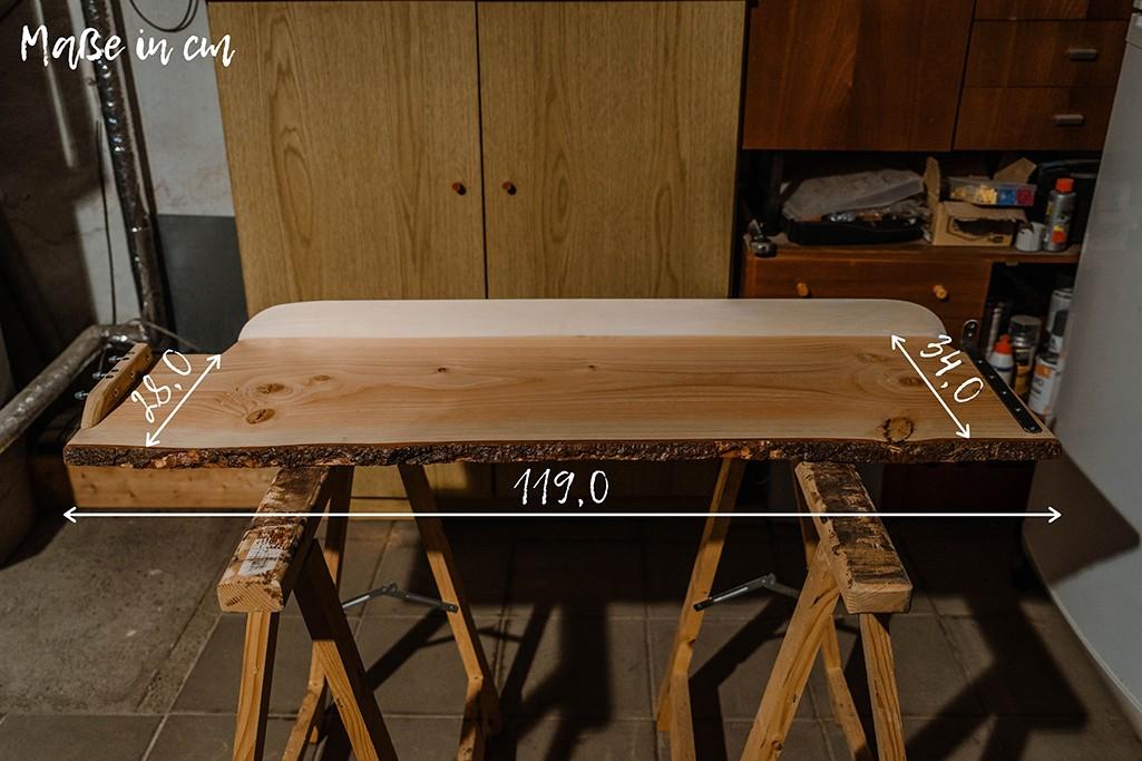 Maße von Holzregal für Camper
